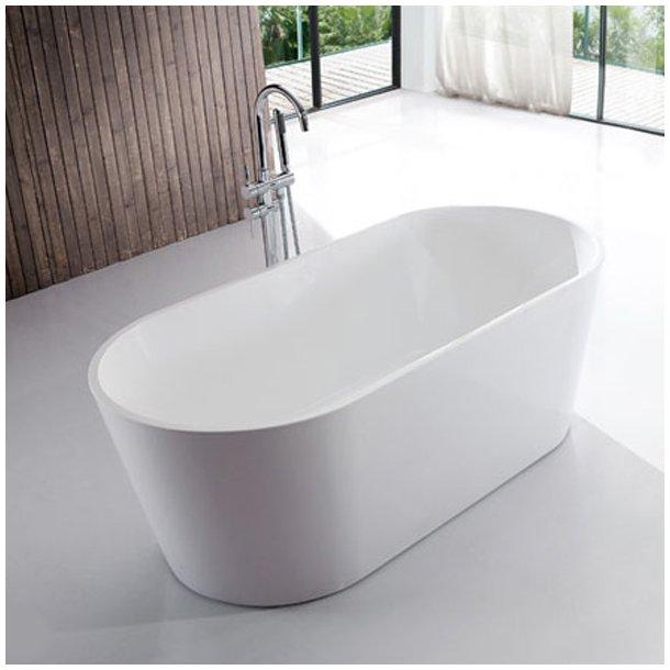 Badekar - Oval Ultraslim 130 - fritstående badekar