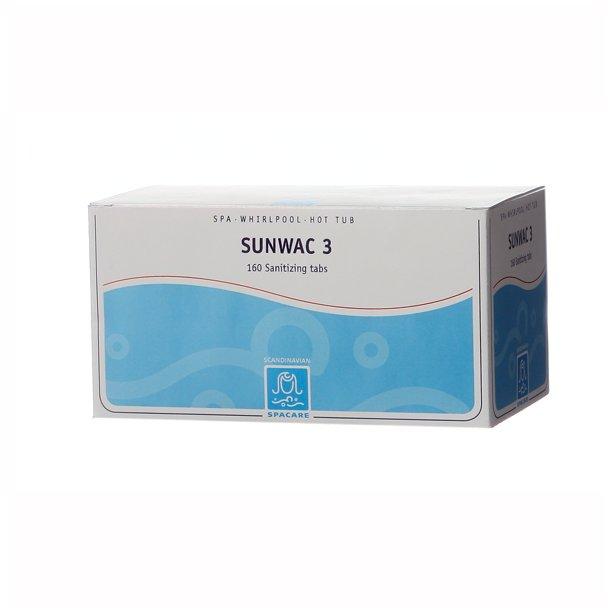 Sunwac 3 160 stk - spatabletter til indendørs spa