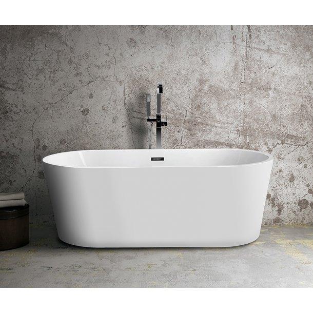 Oval Ultraslim 135 - fritstående badekar